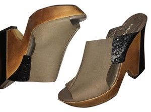 DKNY Taupe Mules