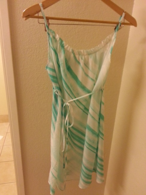 Attention short dress Turquoise on Tradesy