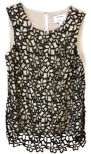 Neiman Marcus Top tan and black