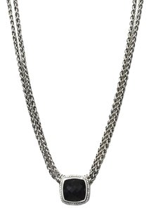 David Yurman David Yurman Sterling, 18k White Gold & Onyx XL Albion Necklace