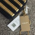 Michael Kors Mk Julie Small Calf Leather Maritime/Gold 31h6gjul1c Shoulder Bag Image 5