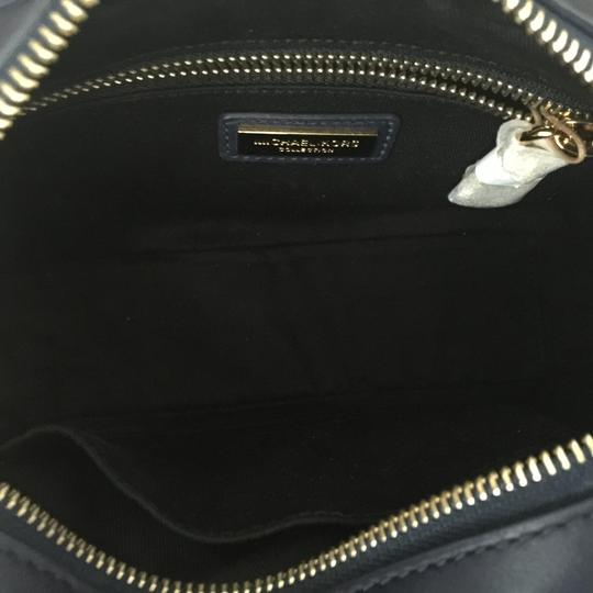Michael Kors Mk Julie Small Calf Leather Maritime/Gold 31h6gjul1c Shoulder Bag Image 6