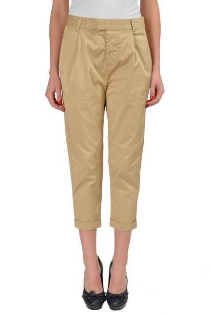Item - Beige Pleated Front Women's Casual Pants Size 4 (S, 27)