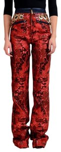 Dsquared2 Straight Pants Burgundy