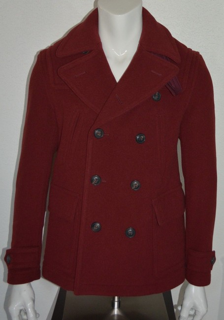 Burberry Jacket Wool Peacoat Double Breasted Trench Coat Image 2