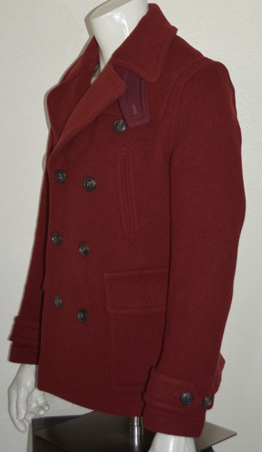 Burberry Jacket Wool Peacoat Double Breasted Trench Coat Image 3