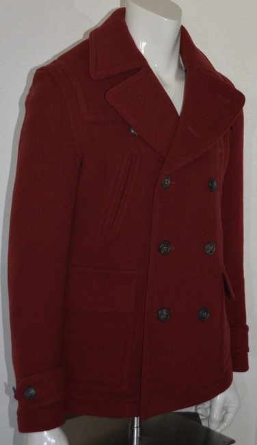 Burberry Jacket Wool Peacoat Double Breasted Trench Coat Image 4