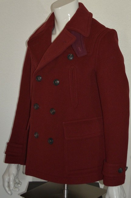 Burberry Jacket Wool Peacoat Double Breasted Trench Coat Image 6