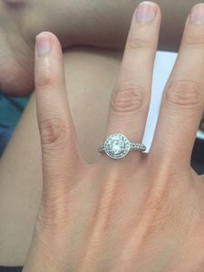 White Gold Setting: 18k with 93 Diamonds (.63ct) Engagement Ring