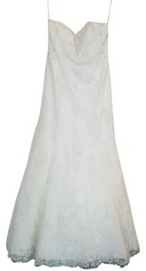 Mori Lee Ivory Lace 1813 Feminine Wedding Dress Size 12 (L)