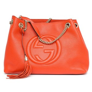 Gucci Red Large Soho Marmont Tote in orange