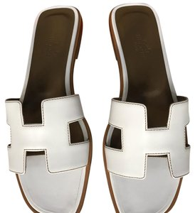 Herms white Sandals