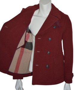 Burberry Jacket Wool Peacoat Double Breasted Trench Coat