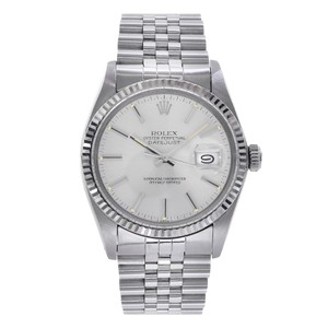 Rolex Rolex Dateust 36 Stainless Steel & 18K White Gold Watch Silver Dial