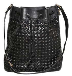 & Other Stories Woven Leather Shoulder Bag