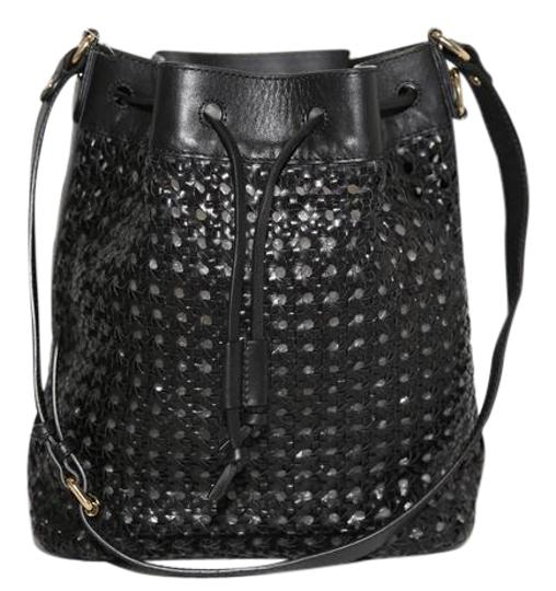 Preload https://img-static.tradesy.com/item/21892782/-and-other-stories-woven-bucket-black-leather-shoulder-bag-0-1-540-540.jpg