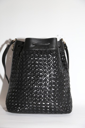 & Other Stories Woven Leather Shoulder Bag Image 3