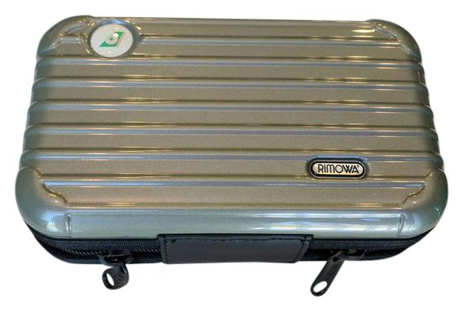 Item - Silver Green Travel Case Cosmetic Bag
