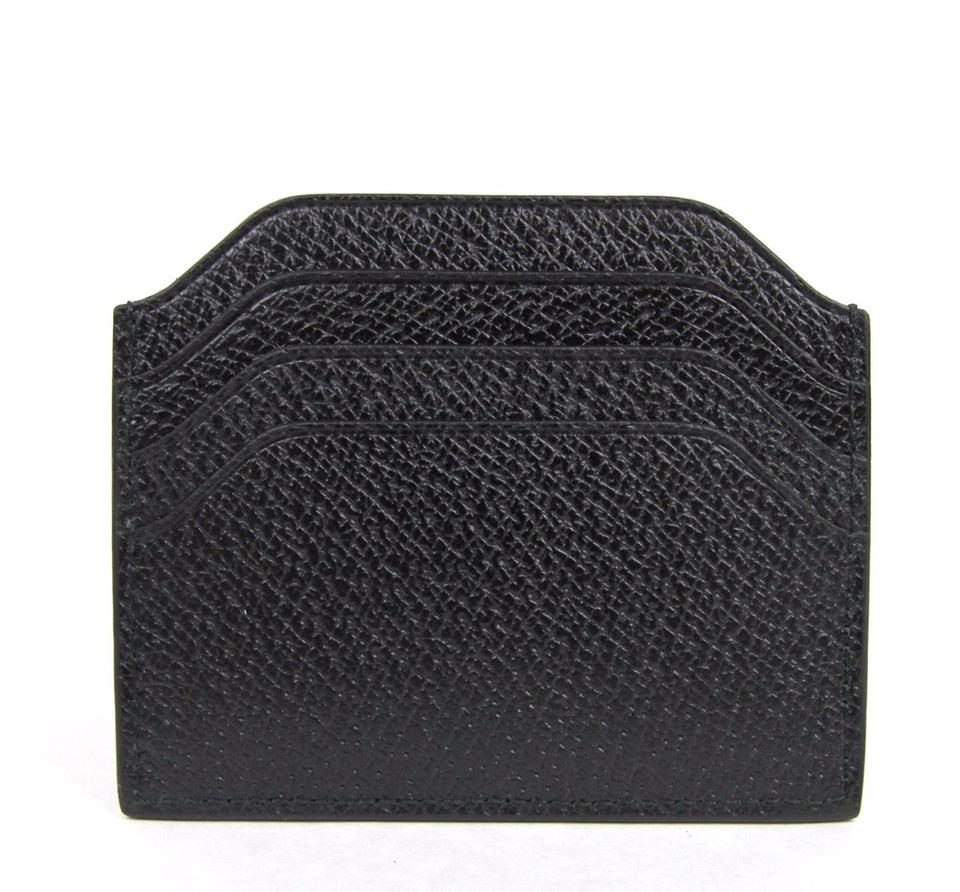 f1aea870aff Gucci Black New Trademark Leather Card Holder Case 322107 Wallet ...