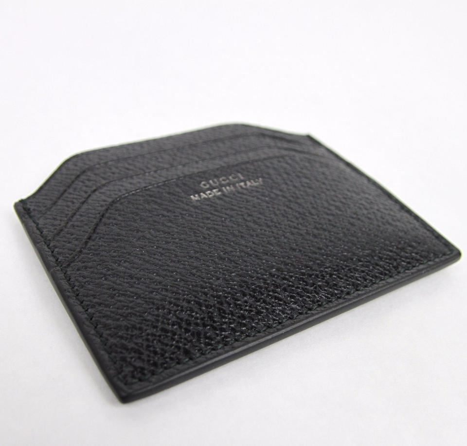 9f8df6a3d92 Gucci New Gucci Black Trademark Leather Card Holder Case 322107 1000 Image  3. 1234
