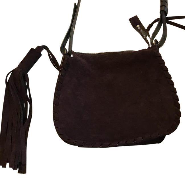 Item - Mori Burgundy Suede Leather Cross Body Bag