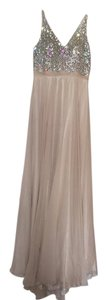Aspeed Cream Polyester Modern Bridesmaid/Mob Dress Size 8 (M)