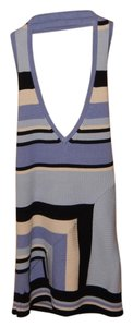 INC International Concepts Blue Striped Halter Top
