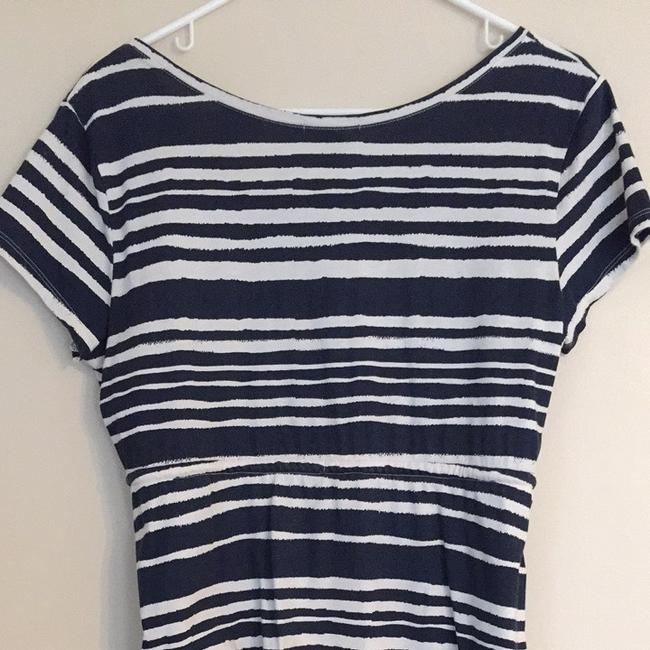 H&M short dress Navy & White Striped on Tradesy