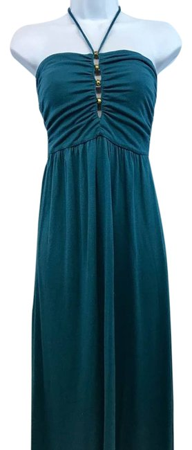 Item - Teal Stretchy Modal Long Casual Maxi Dress Size Petite 4 (S)