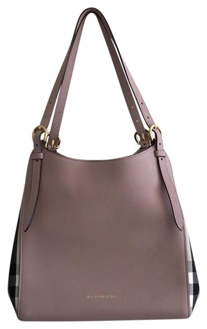Item - Bag Canterbury House Check Pale Orchid (Pink) Leather Tote