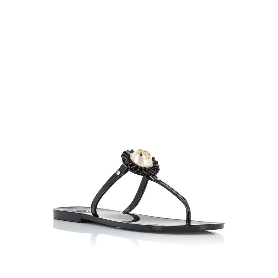 3a167c8a891 Tory Burch Black Melody Thong Sandals Size US 7 Regular (M