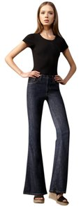 Current/Elliott High Rise 70s Bell Bottom High Waisted Flare Leg Jeans-Dark Rinse