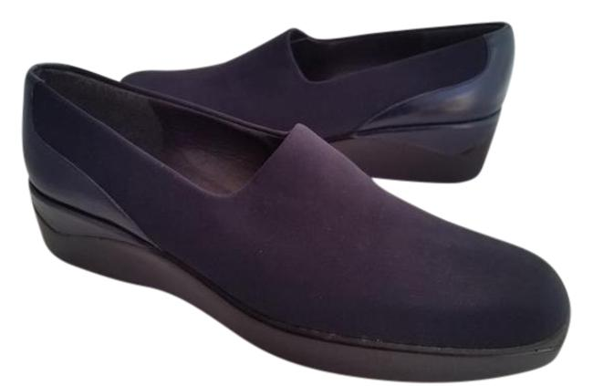 Item - Black New Women's Slip-on Stretch Fabric Loafers Wedges Size US 9.5 Narrow (Aa, N)