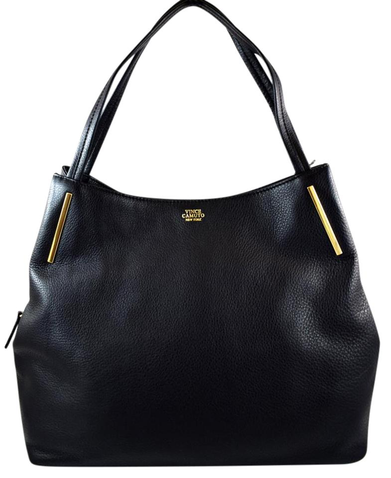 Vince Camuto Ike Black Leather Tote Tradesy
