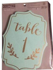 Table Number Plaque And Place Cards Mint