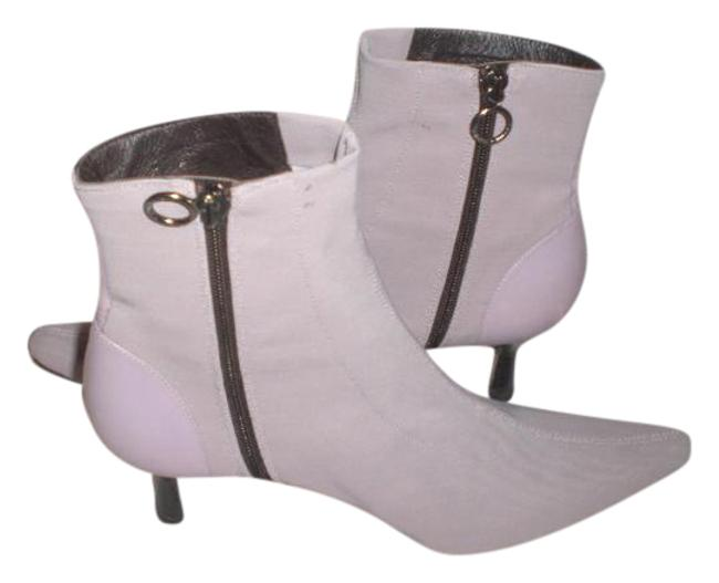 Item - Lavender Stretch/Leather Split Toe Zip Ankle M Boots/Booties Size US 8 Regular (M, B)