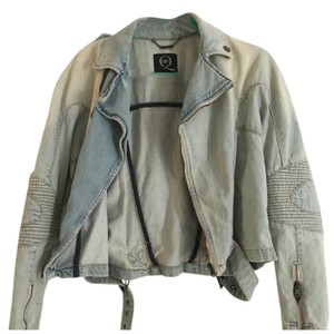 Alexander McQueen Light Blue Wash Denim Womens Jean Jacket