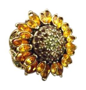 Heidi Daus Beautiful Signed Heidi Daus Sunflower Ring