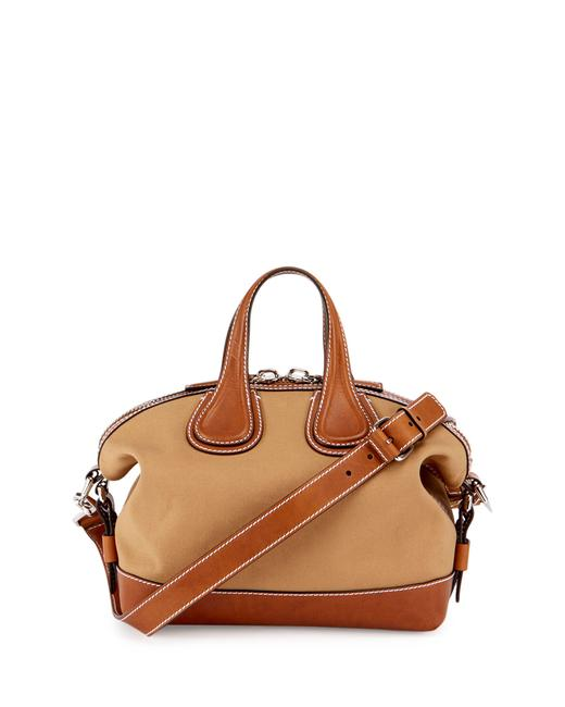 Item - New Nightingale Small Beige Calf Leather and Canvas Satchel