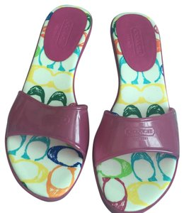 Coach fuchsia Sandals