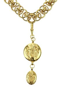 Chanel Chanel Vintage Gold Chain Mademoiselle Pendant Necklace