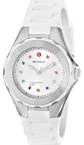 Michele NIB MICHELE MWW12P000001 TAHITIAN JELLY BEAN SILVER & WHITE WATCH
