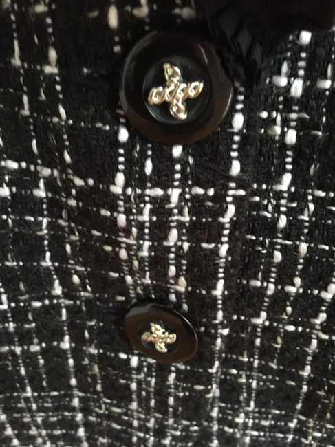 White House | Black Market Tweed Classic Channel Black and white Blazer