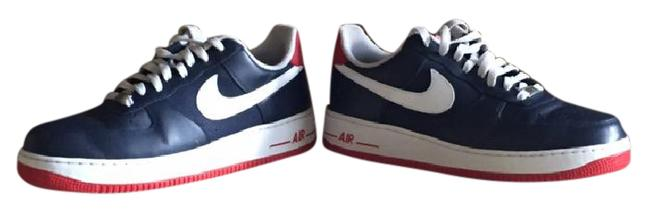 Nike Blue White Stripe Red Sole Men Air Force 1 Sneakers Size Us