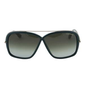 Tom Ford New FT0455 96P Brenda Women Dark Green Rectangular Infinity Sunglasses