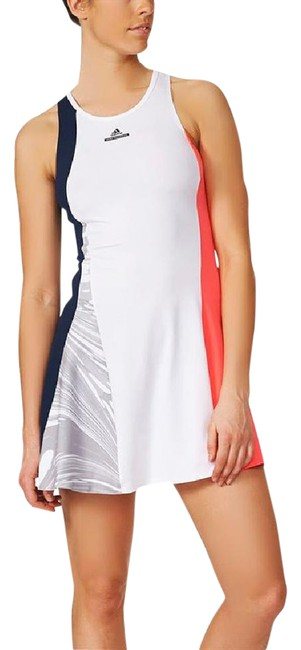 """Item - Navy-coral-white (Nwt) Flared Multi-color """"Barricade"""" Dress Activewear Sportswear Size 12 (L, 32, 33)"""