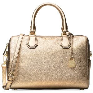 427d9dd850bcc Michael Kors Metallic Studio Tote in Gold