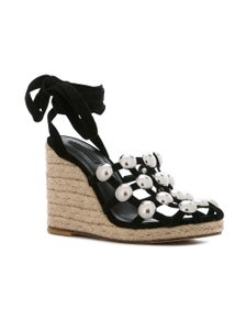 Alexander Wang Studs Lace Up Edgy Black Wedges
