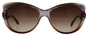 Roberto Cavalli CatEye Brown/Lilac Sunglasses 731S 47F