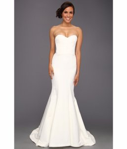7850cb2655ea8 Nicole Miller Bridal Antique White Silk Julian Gown Fn0004 Formal ...